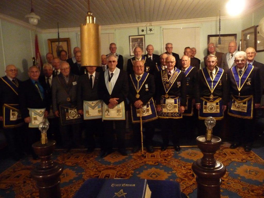 Grand Steward Invested with Regalia